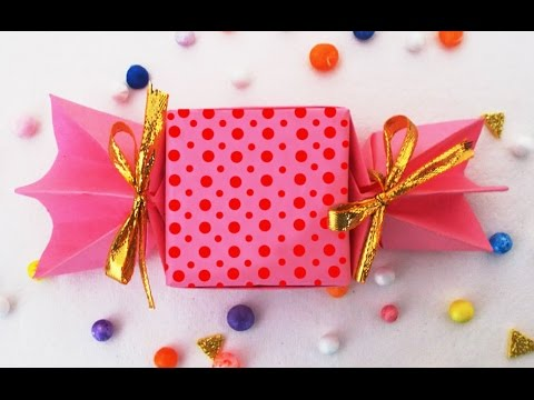 DIY Crafts Ideas : How to make Cute Origami Candy Box | Kids Fun Crafts