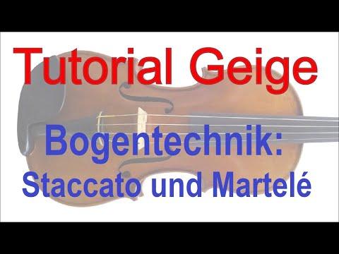 Geigenunterricht online - Tutorial: Bogentechnik Staccato und Martelé