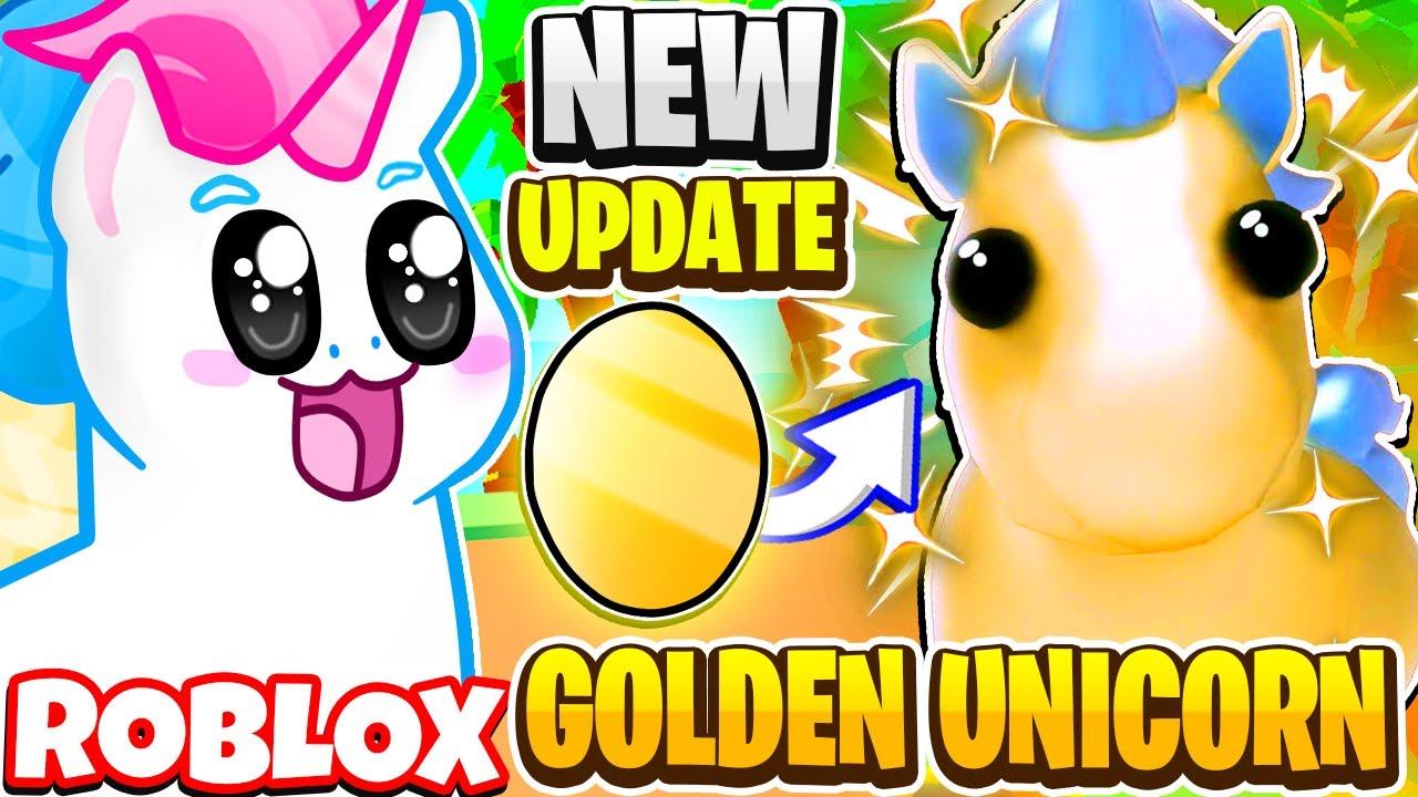 New Golden Unicorn Legendary Pet In Adopt Me Roblox Adopt Me