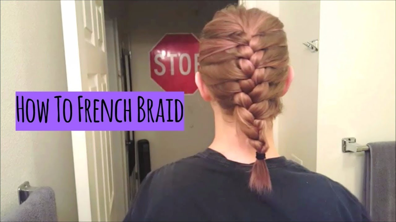 How To French Braid Short Shoulder Length Hair Youtube