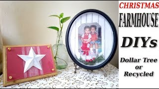 Holiday Farmhouse  Decor DIY using Dollar Tree or Recycle