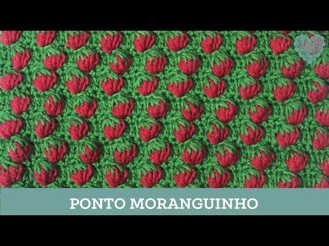 Criações em Crochê: Ponto Moranguinho   Luciana Ponzo