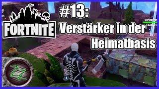 Fortnite PvE Modus #13 - Rette die Welt - Sturmschild 4 - Verstärker bauen - gameplay deutsch german