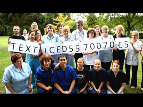 SOAKED! Staff at Papworth Hospital take part in the Ice Bucket Challenge
