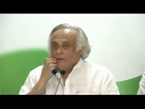 AICC Press Briefing By Jairam Ramesh at Congress HQ. October 25, 2016