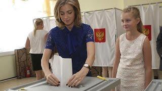 Наталья Поклонская  приняла участие в голосовании на выборах в депутаты Государственной Думы РФ