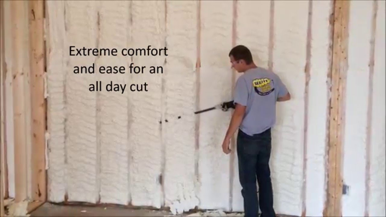 Super Shear Spray Foam Saw Youtube