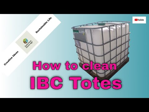 How to Clean IBC Totes - Intermediate Bulk Container - Video