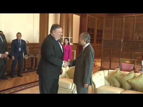 Secretary Pompeo Greeted by Malaysian Prime Minister Mahathir Mohamad