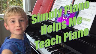 Teaching Piano with Simply Piano App