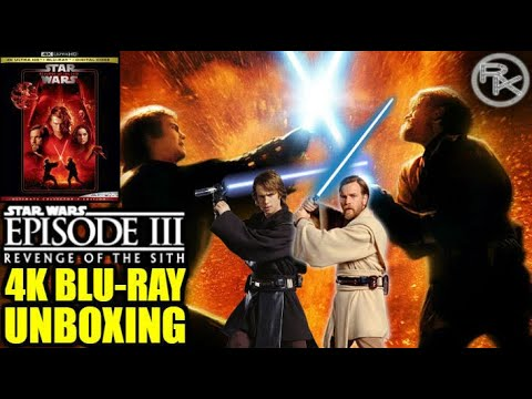 Star Wars Revenge Of The Sith 4k Blu Ray Unboxing Youtube