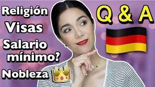Q&A VIVIR EN ALEMANIA - SALARIO MÍNIMO, RELIGIÓN, VISAS, ETC.   MARIEBELLE TV