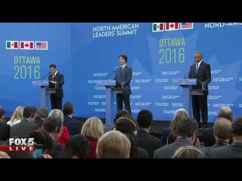President Obama joins PM Trudeau and President Nieto for a press conference