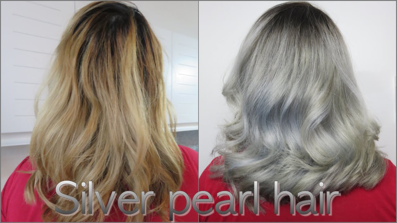 From Brassy Blond To Silver Pearl Hair Youtube