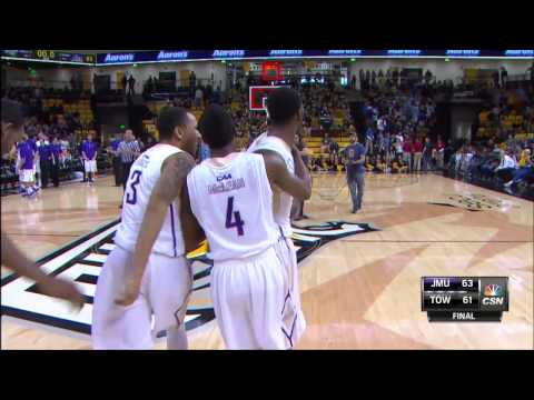 2014-15 JMU MBB - Ron Curry Buzzer Beater at Towson - Feb. 7, 2015