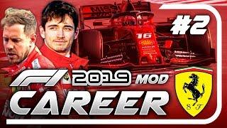 F1 2019 Mod CAREER MODE Part 2: Bahrain   Leclerc Ferrari Career