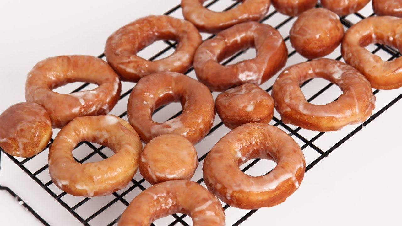Homemade Glazed Donuts Recipe - Laura Vitale - Laura in the Kitchen ...