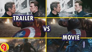 [4K UHD] Avengers: Endgame | Trailer vs Movie Comparison [How Marvel prevented Spoilers !]