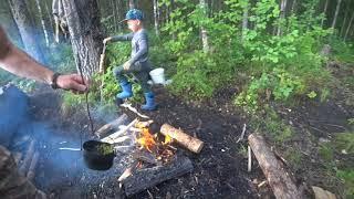 рыбалка и отдых на лесном озере в Архангельске