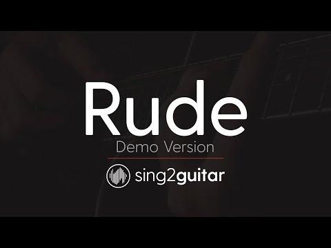 RUDE (Acoustic Guitar Karaoke Demo) MAGIC!