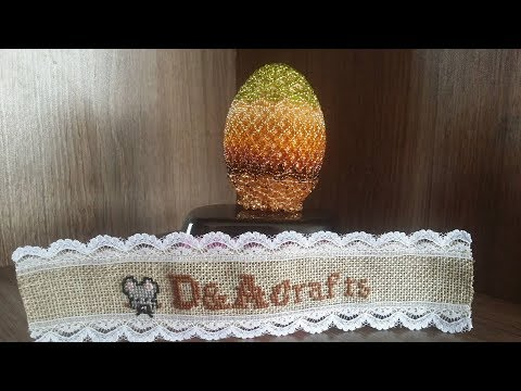 DIY: How to make colorful wooden EGG for EASTER with beads TUTORIAL