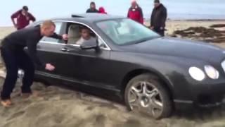 540 Bin Liralık Bentley'i Kuma Sapladı