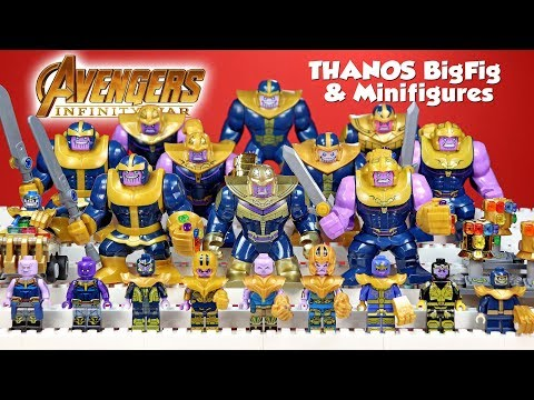 Thanos w/ Infinity Stones Avengers Infinity War Unofficial L