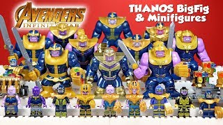 Thanos w/ Infinity Stones Avengers Infinity War Unofficial LEGO BigFigs & Minifigure Collection 2018