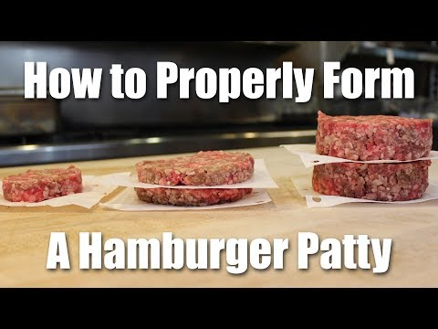 How do you make hamburger patties with ground beef