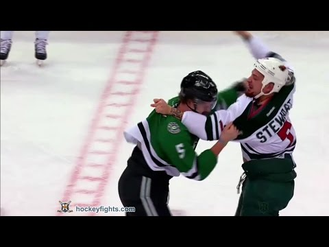 Chris Stewart vs Jamie Oleksiak Nov 21, 2016