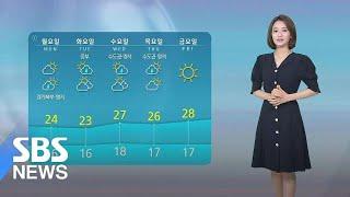 [날씨] 서울 한낮 28도 더위…밤사이 곳곳 소나기 /…