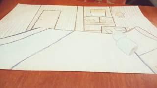 Часть-2.Учу рисовать дизайн комнаты!!