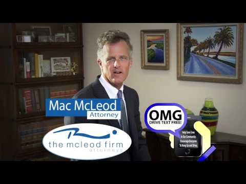 The McLeod Firm | Personal Injury Lawyer in St. Augustine, FL | Texting While Driving PSA