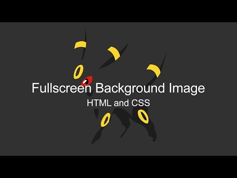 Fullscreen Landing Page Tutorial (HTML and CSS)