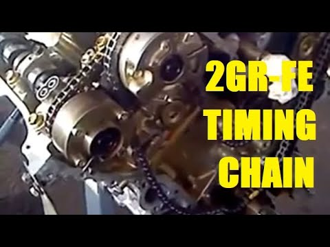 Timing Chain Valve Timing Toyota 35L V6 2GRFE Camry Highlander Rav4 RX350  YouTube