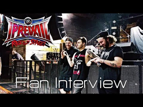I Prevail Q & A Fan Interview Rage on the Stage Tour HD Oct 2017