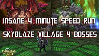 4 MIN SKYBLAZE VILLAGE - INSANE SPEED RUN - Crusaders of Light