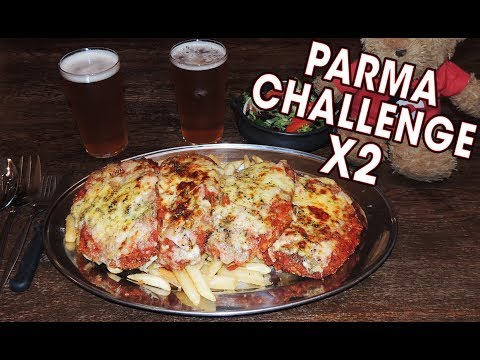 """""""PARMASAURUS"""" CHICKEN PARMA CHALLENGE!! (x2)"""