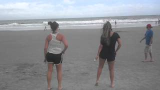 Wobble remix on the beach (: hilarious!