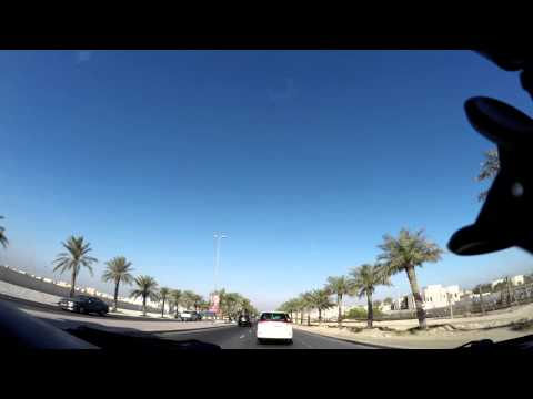 Time Lapse car trip from East Riffa to Seef Area in Bahrain
