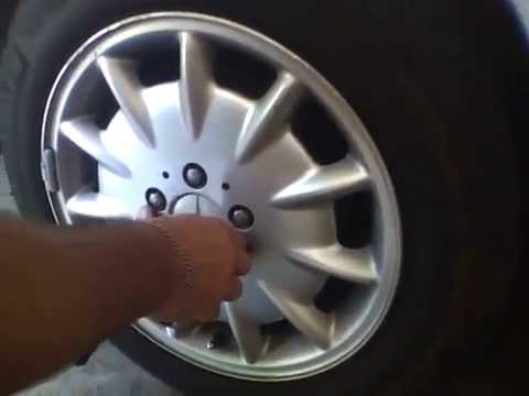 How to change the wheel cap on a mercedes easy youtube for Center caps for mercedes benz wheels