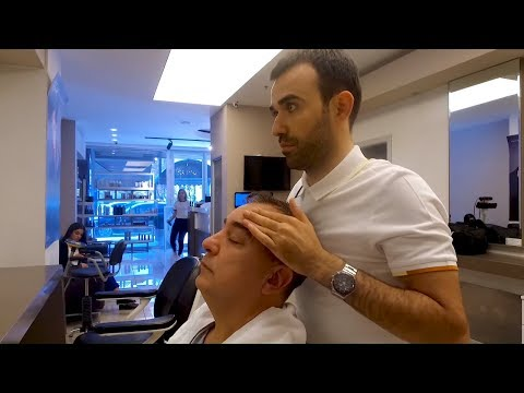 TURKISH BARBER MASSAGE ASMR THERAPHY  (Paris Kuaför - Ankara Turkey)