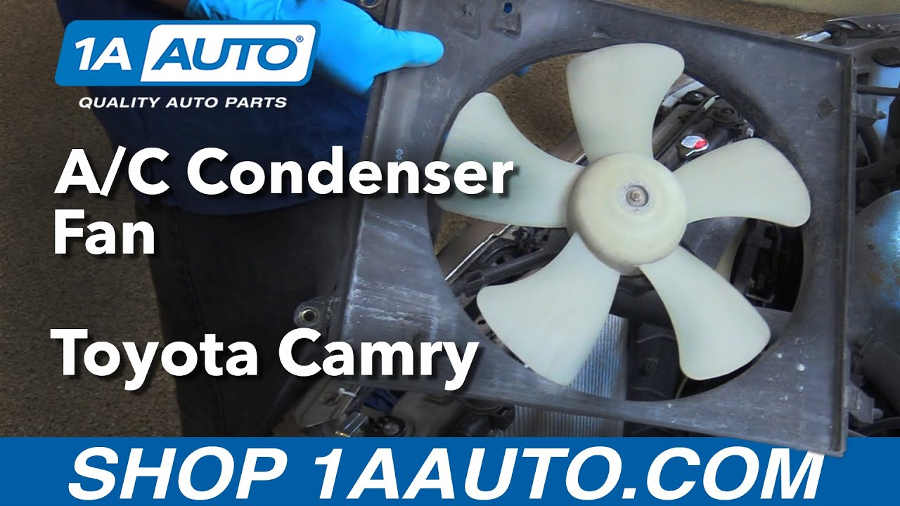 how to replace a c condenser fan 97 99 toyota camry [ 1280 x 720 Pixel ]