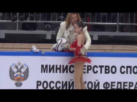 2017 Russian Jr Nationals - Alina Zagitova FS (warm-up + scores)