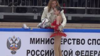 2017 Russian Jr Nationals - Alina Zagitova FS (warm-up + scores)