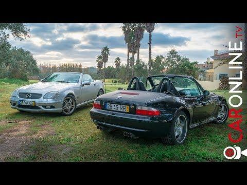 N茫o podiam ser mais diferentes | BMW Z3 M vs Mercedes SLK32 AMG [Review Portugal]