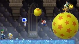 New Super Mario Bros Wii - All Castle Bosses (4 Players)