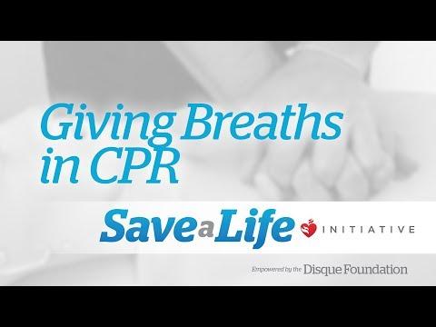 6c. Giving Breaths in CPR (Cardiopulmonary Resuscitation) (2018)