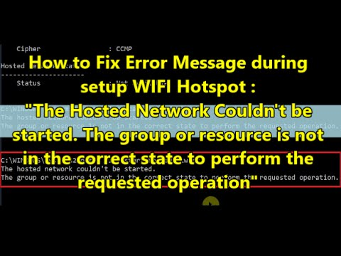 wifi error messages