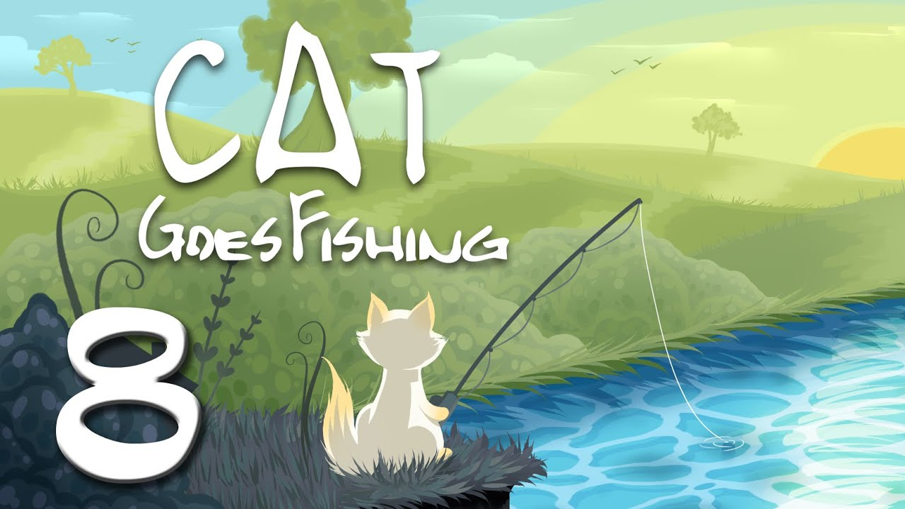 Cat goes fishing part 8 catching angler fish is hard for What goes good with fish